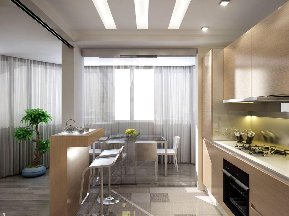 Интерьеры кухня и гостиная фото